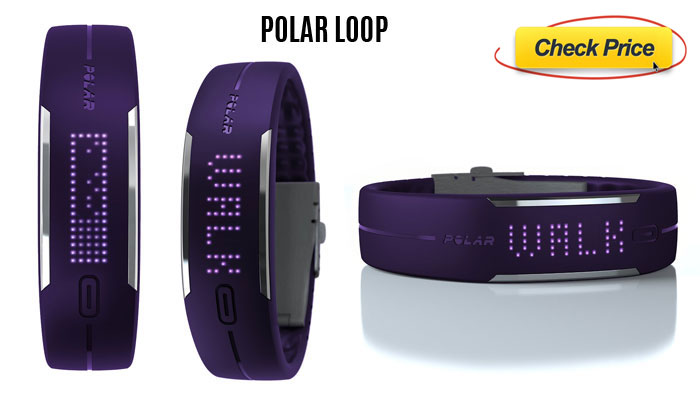 Polar loop large health monitoring wristband