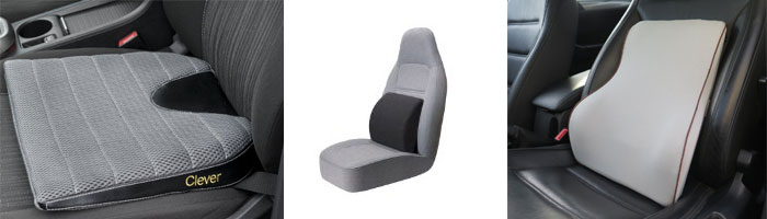 Car lumbar pillow and wedge