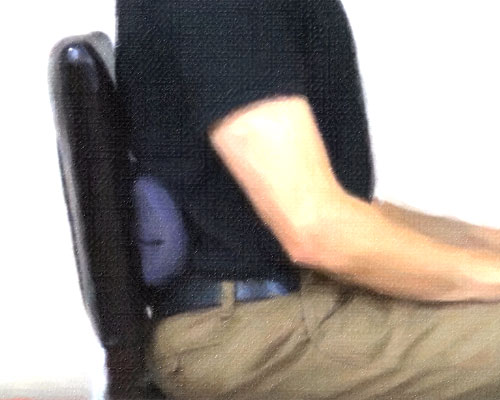 using a lumbar support for your office chair