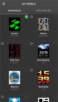 My Pebble app store