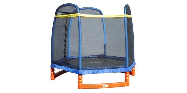A mini trampoline for little kids and youngsters