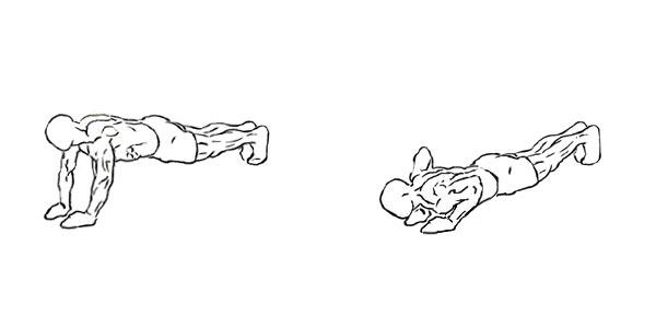 close grip pushup plank