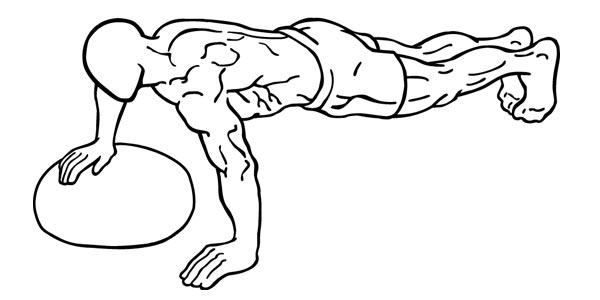 medicine ball biased pushup