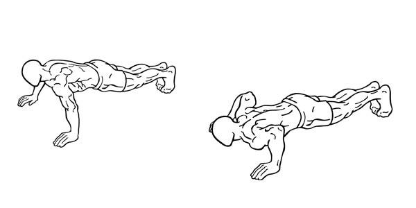 wide grip pushups