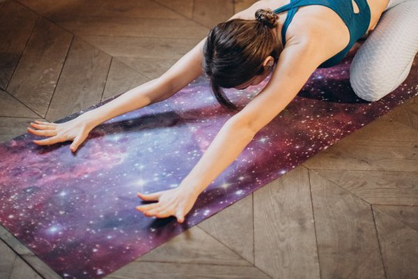 Fitness mat with printed pattern