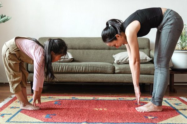 Using carpet as a fitness mat